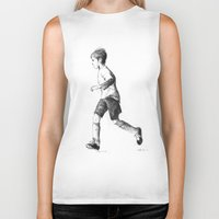 soccer Biker Tanks featuring Soccer sketch by Pato