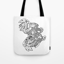 Rooster BW Tote Bag