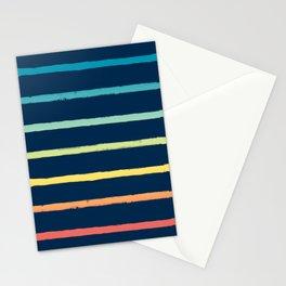 Blue Festival Rainbow Stripe Stationery Cards