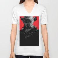 django V-neck T-shirts featuring django by jensuisdraws