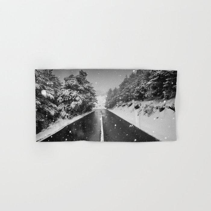"""The road"". Bw Hand & Bath Towel"