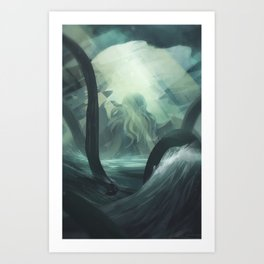 Guardian of the Deep Art Print