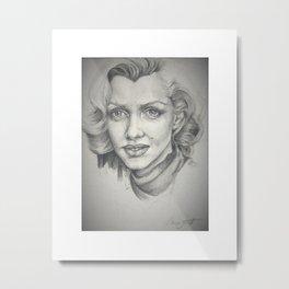 Pensive Marilyn Metal Print
