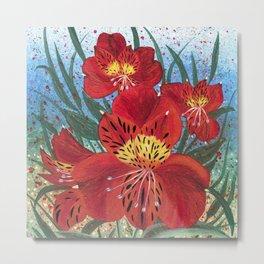 Alstroemeria Flower Metal Print