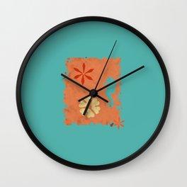 coral sea seahorse Wall Clock