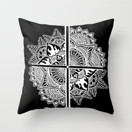 Mandala de la nuit Throw Pillow