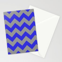 Chevron Navy Stationery Cards