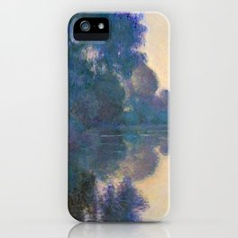 """Claude Monet """"Morning on the Seine near Giverny"""" iPhone Case"""