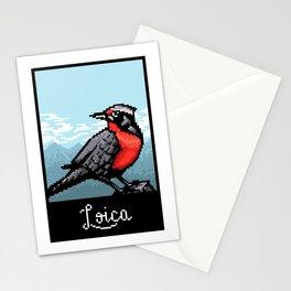 Loica bird PixelArt Stationery Cards