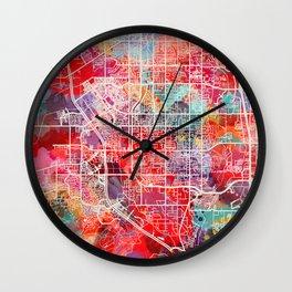 Riverton map Utah UT 2 Wall Clock