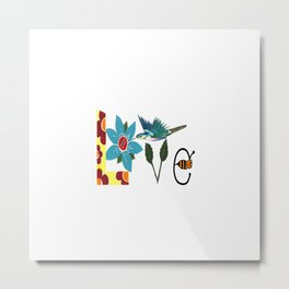 L Is For Love Metal Print