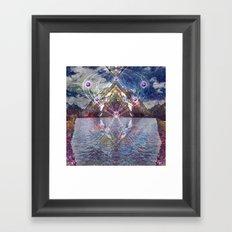Mountain Eye Framed Art Print