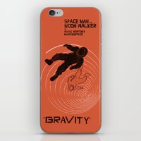 gravity iPhone & iPod Skins featuring GRAVITY by Resistance