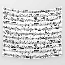 Sheet Music Wall Tapestry