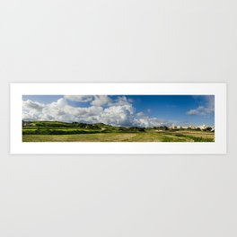 Panoramic view of countryside St. Paul malta Art Print