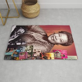 Ella Fitzgerald Collage Portrait I Rug