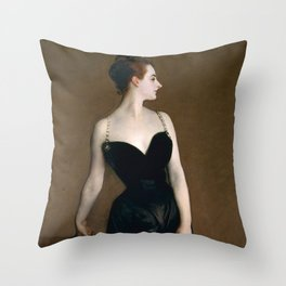 Portrait of Madame X by John Singer Sargent - Vintage Fine Art Oil Painting Throw Pillow