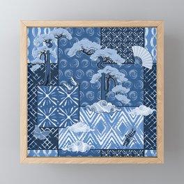Shibori Quilt Framed Mini Art Print