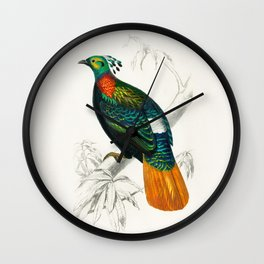 Bird Illustration Wall Clock