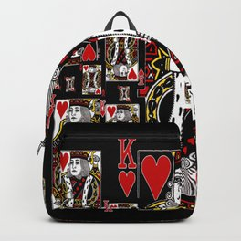 BLACK KING OF HEARTS CASINO PLAYING CARDS FROM Backpack