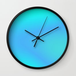 Sky Blue Soft Gradient Wall Clock