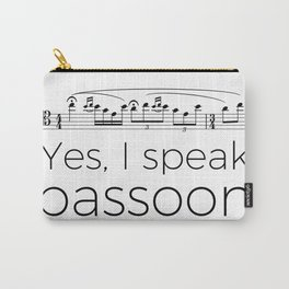 I speak bassoon Carry-All Pouch