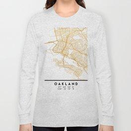 OAKLAND CALIFORNIA CITY STREET MAP ART Long Sleeve T-shirt