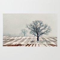 farm Area & Throw Rugs featuring Winter Farm by elle moss