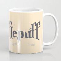 hufflepuff Mugs featuring Hufflepuff by Kiell R.