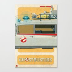Ecto-1 from Ghostbusters part II of III Canvas Print