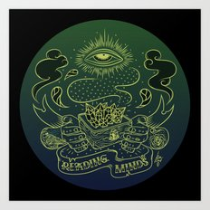 Reading minds / Mielofon Art Print