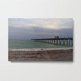 A Gray Day on Venice Beach Metal Print