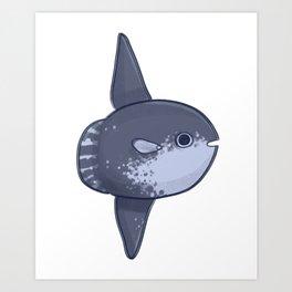 Awkward Sunfish Art Print