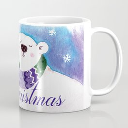 Merry Christmas Polar Bear Coffee Mug