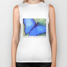 Blue Butterfly: Transfiguration Biker Tank