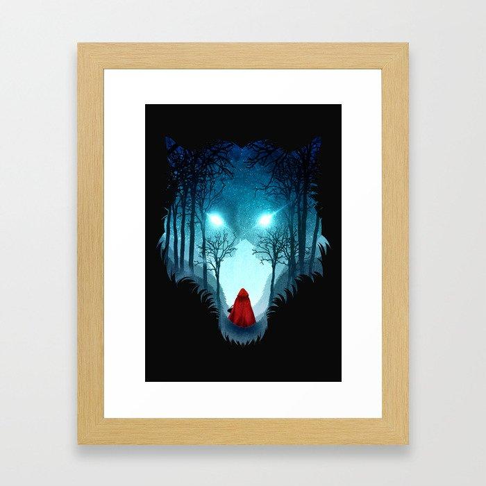 Big Bad Wolf (dark version) Framed Art Print
