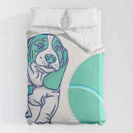 Tennis Anyone? Duvet Cover