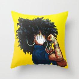 Naturally the Riveter Throw Pillow