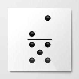 White Domino / Domino Blanco Metal Print