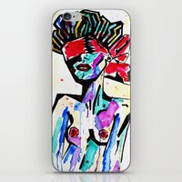 bondage iPhone & iPod Skins featuring Bondage Watercolor by Red Dust