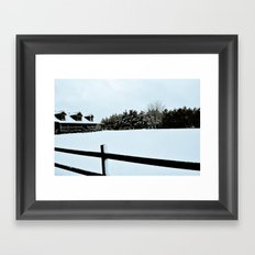 Touched by Snow Framed Art Print