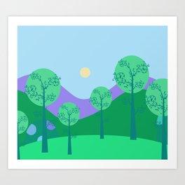Kawai Landscape Art Print