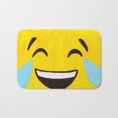 Tears of Joy - Emoji Minifigure Painting Bath Mat