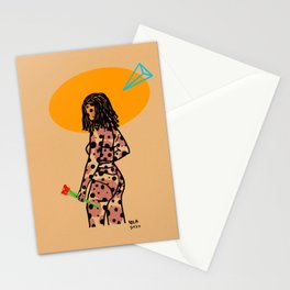 Shawty Got Roses Modern Artwork for The Cool Girls Stationery Cards