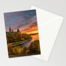 Parliament Hill at Sunset Stationery Cards