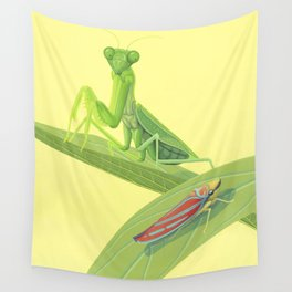 Mantis and Leafhopper Wall Tapestry