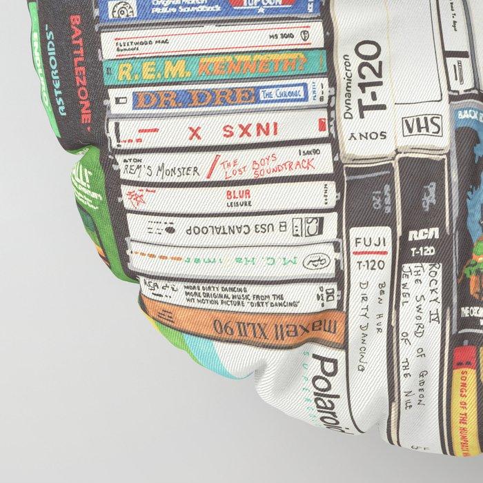Cassettes, VHS & Games Floor Pillow