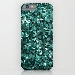 Turquoise Glitter iPhone Case