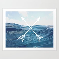 Deep sea arrows Art Print