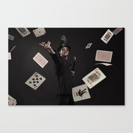 Smoking Ace Canvas Print